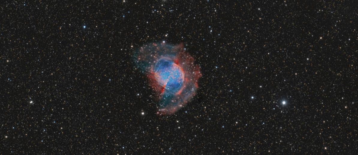 M27 der Hantelnebel im Sternbild Vulpecula (Fuchs)