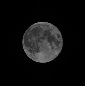 Vollmond 31.01.2018 - monochrom - G