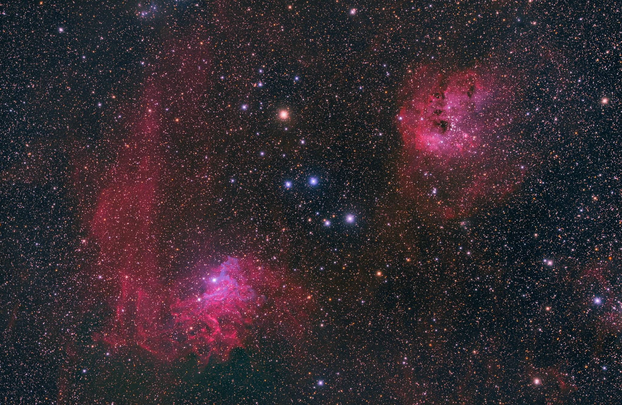 Ic 405, der Flaming Star Nebulae & Ic 410