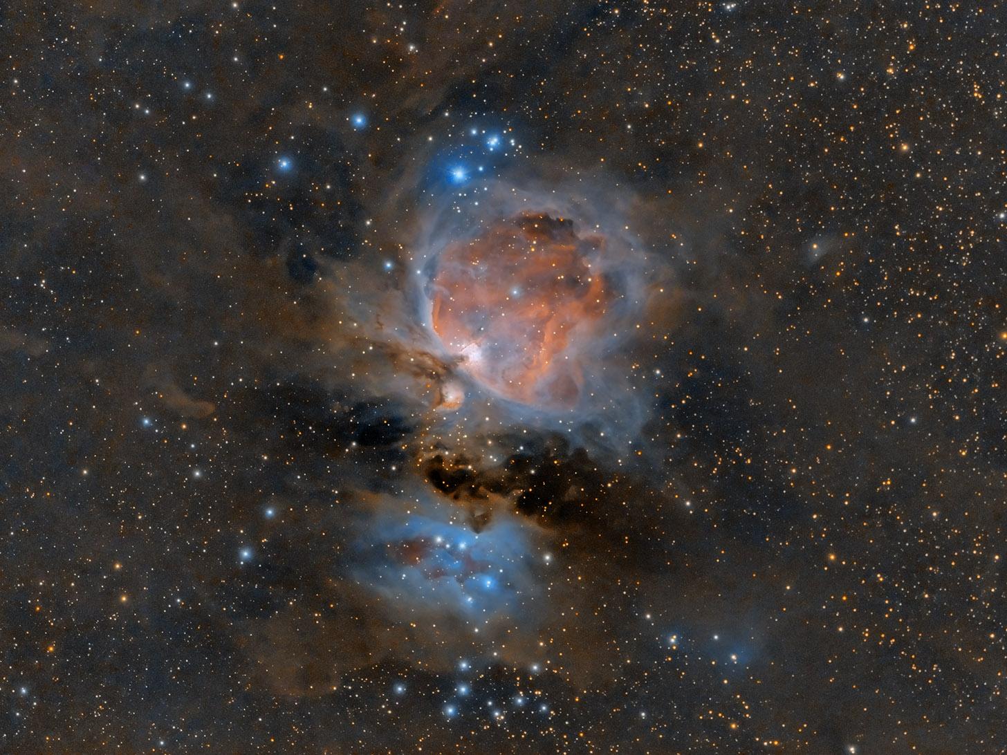 M42, der große Orionnebel in nur 3 min